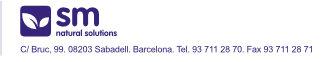 C/Bruc, 99. 08203 Sabadell. Barcelona. Tel. 93 771 28 70 Fax 93 771 28 71